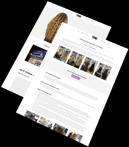 Toni Hair Extensions portfolio 3